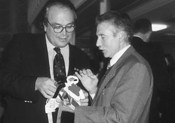 João Ferreira (à direita), correspondente do PP em Singen, 1998