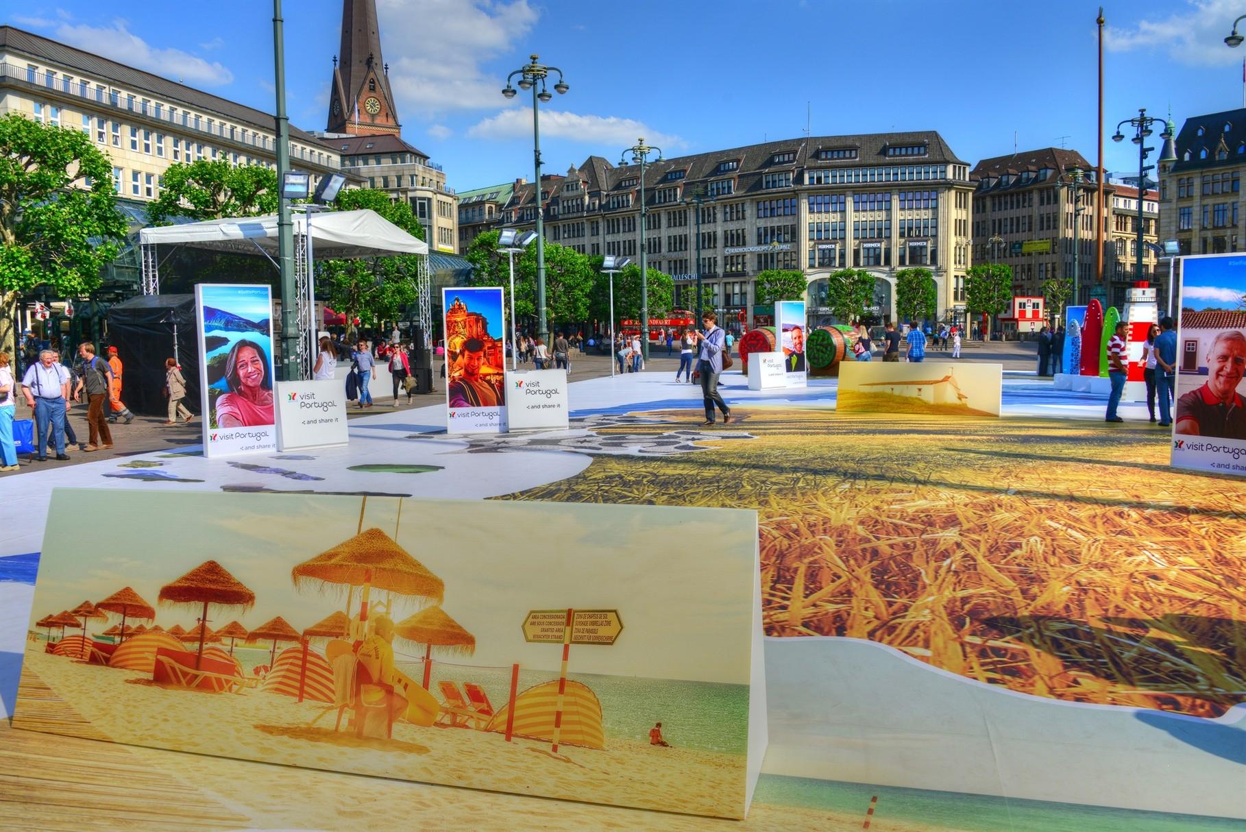 VisitPortugal in Rathausmarkt Hamburg (Foto: Glyn Lowe)