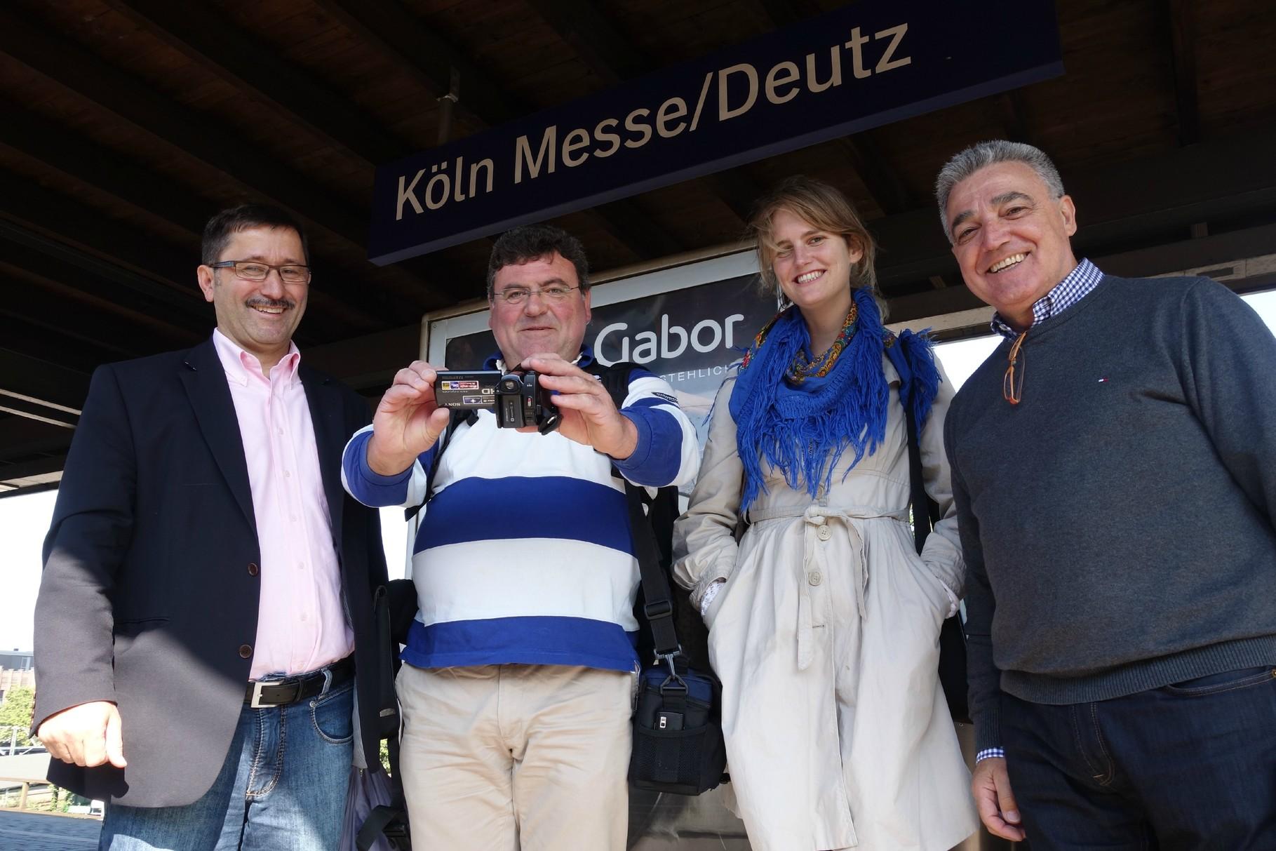 Chegada do neto de Armando Rodrigues de Sá à estação de comboios Köln-Deutz a 12 de Setembro. Fotos: Cristina Krippahl
