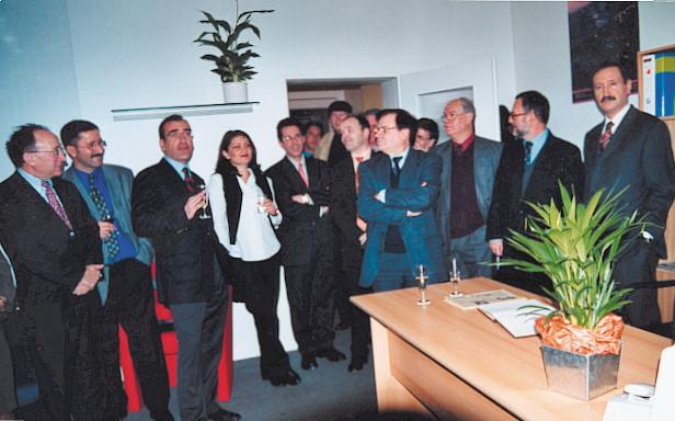 Inauguração da segunda  redação do PP, 2000