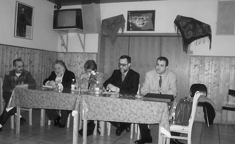 Carlos Luís em sessão de esclarecimento no Centro Português de Dortmund, 1998