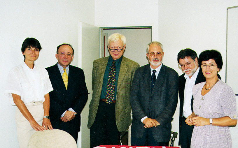 Escritórios da TAP com Manuel Matos, José Eduardo, Abílio Ferreira e responsável pela TAP,  1999