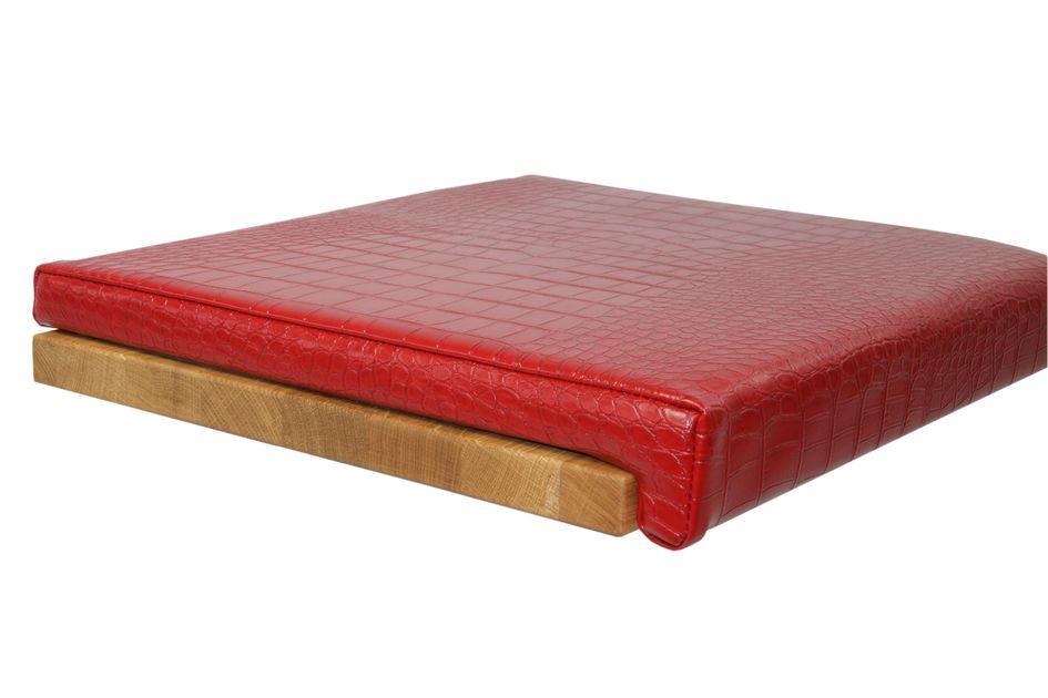 Dazu passt: Kissen Lederoptik - Kroko Rot