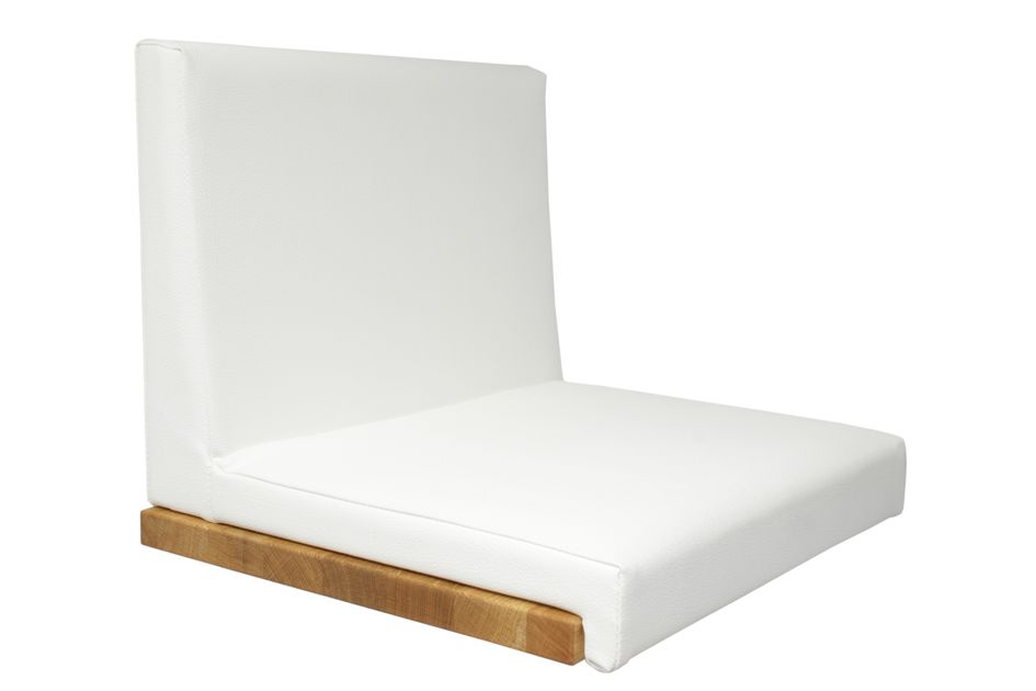 Fits to: Seat cushion Leather Look - White with backrest