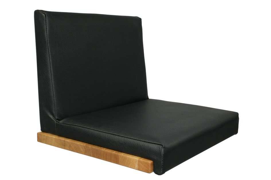 Fits to: Seat cushion Leather Look - Black with backrest