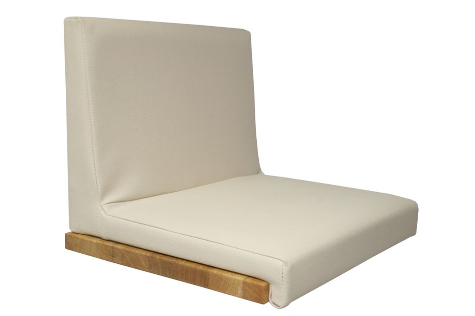 Fits to: Seat cushion Leather Look - Beige with backrest