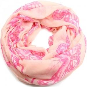 Loopschal-Schlauchschal-pink-butterfly-strike 100% Viskose 185x90 cm, in meinem Shop