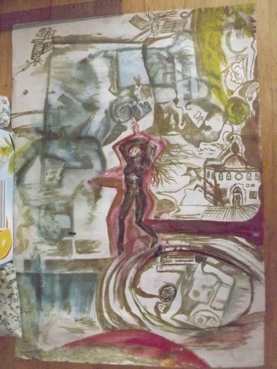 "Nach Live-Impessionen beim Tina Turner-Konzert in Basel, Juli 1990: ""I am a  boddy-dancer"".  J. v. D.  Preisliche VB > 4.000€"