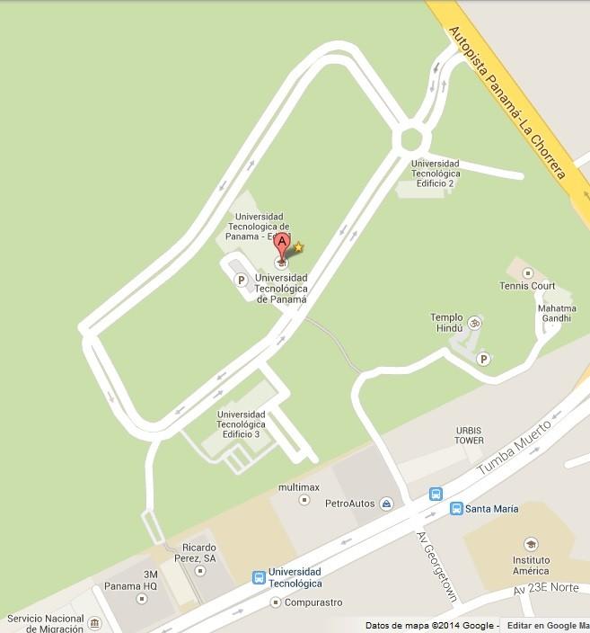 Mapa del Campus Central