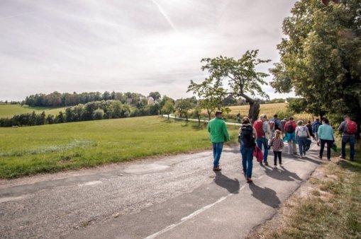 Auf den Spuren des Bio-Landbaus Richtung Heynitz, Foto: Romy Schlieter, 2020