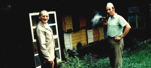 Imker Wolfgang Goldammer mit Vater in Heynitz 1977, Foto: Familie Goldammer