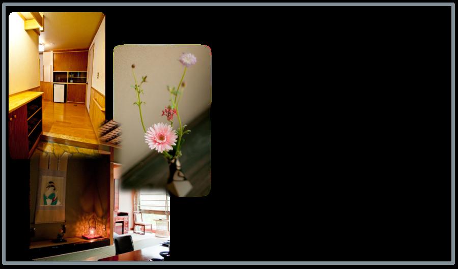 玄関と寝室には、お花を・・・。