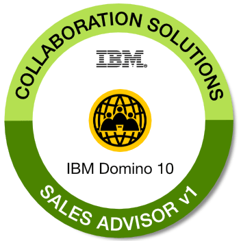 Badge: IBM Notes and Domino 10 Sales Advisor V1