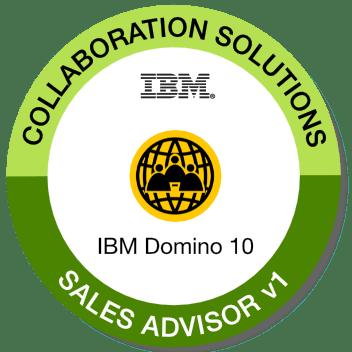 Badge: IBM Notes and Domino 10 Sales Advisor V1