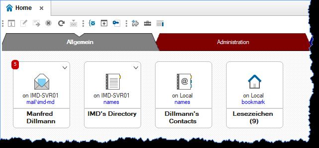 Datenbanksymbole im Notes Client Arbeitsbereich - Anzeige des Datenbankdateinamens