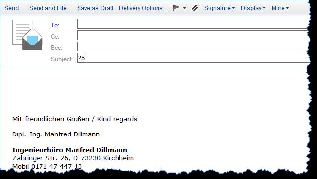 """Notes Client mit einer neuen Mail - Ergebnis einer Formel im Feld """"Subject"""""""