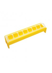 Mangeoire PVC avec grille anti-gaspillage. Pour poussins, cailleteaux - 30 x 40 x 50 cm