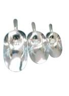 Pelles à aliments en aluminium - 20 cm (250 g), 25 cm (500 g), 30 cm (1 kg), 34 cm (1.5 kg), 38 cm (2 kg), 42 cm (2.5 kg)