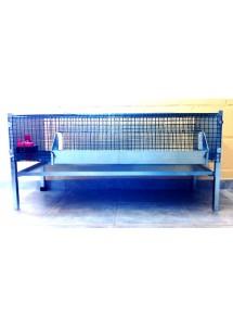 Cage cailles engraissement - Avec mangeoire et abreuvoir automatiques - 1000 x 500 x 500 H