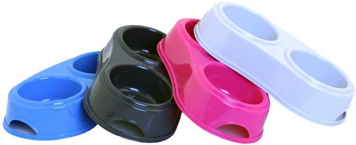 Gamelles doubles plastique - Choix de tailles et coloris