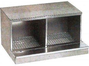 Pondoir - En acier galvanisé, 1, 2 et 4 compartiments - 330 x 450 x 340 mm - 630 x 450 x 340 mm - 1260 x 450 x 340 mm
