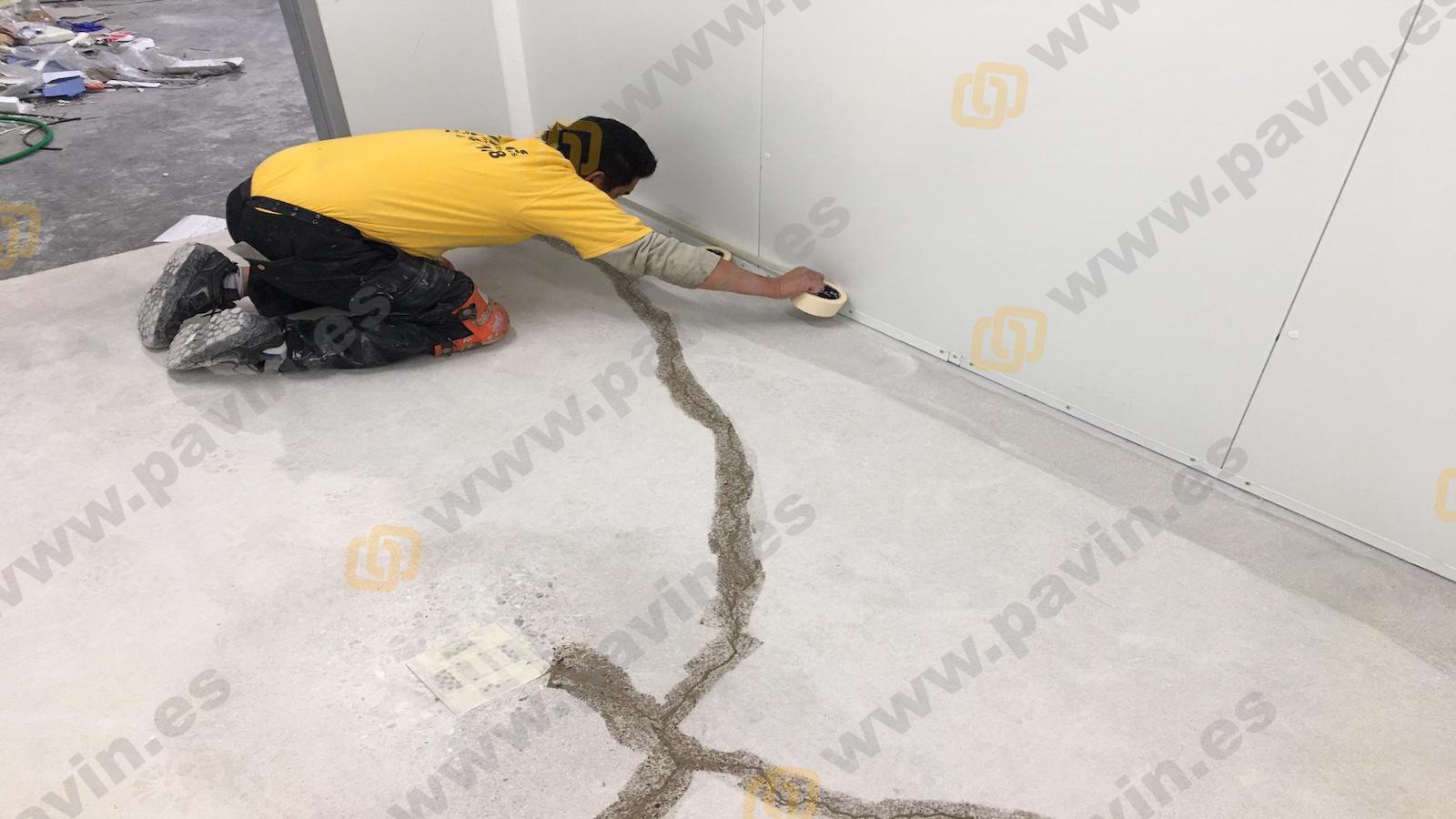 Reparación de juntas, fisuras y grietas en los pavimentos industriales