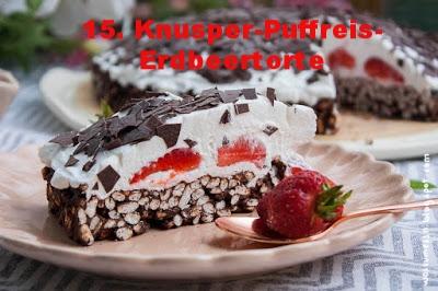 Knusper-Puffreis-Erdbeertorte von Wow zum Essn
