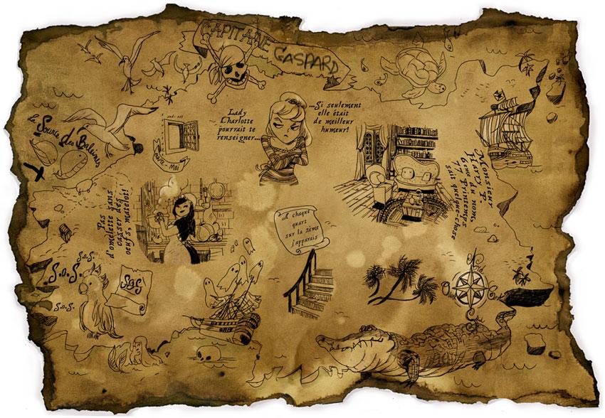 carte au trésor + chasse au trésor hellofairepart-pdf gratuit-photo maud millecamps