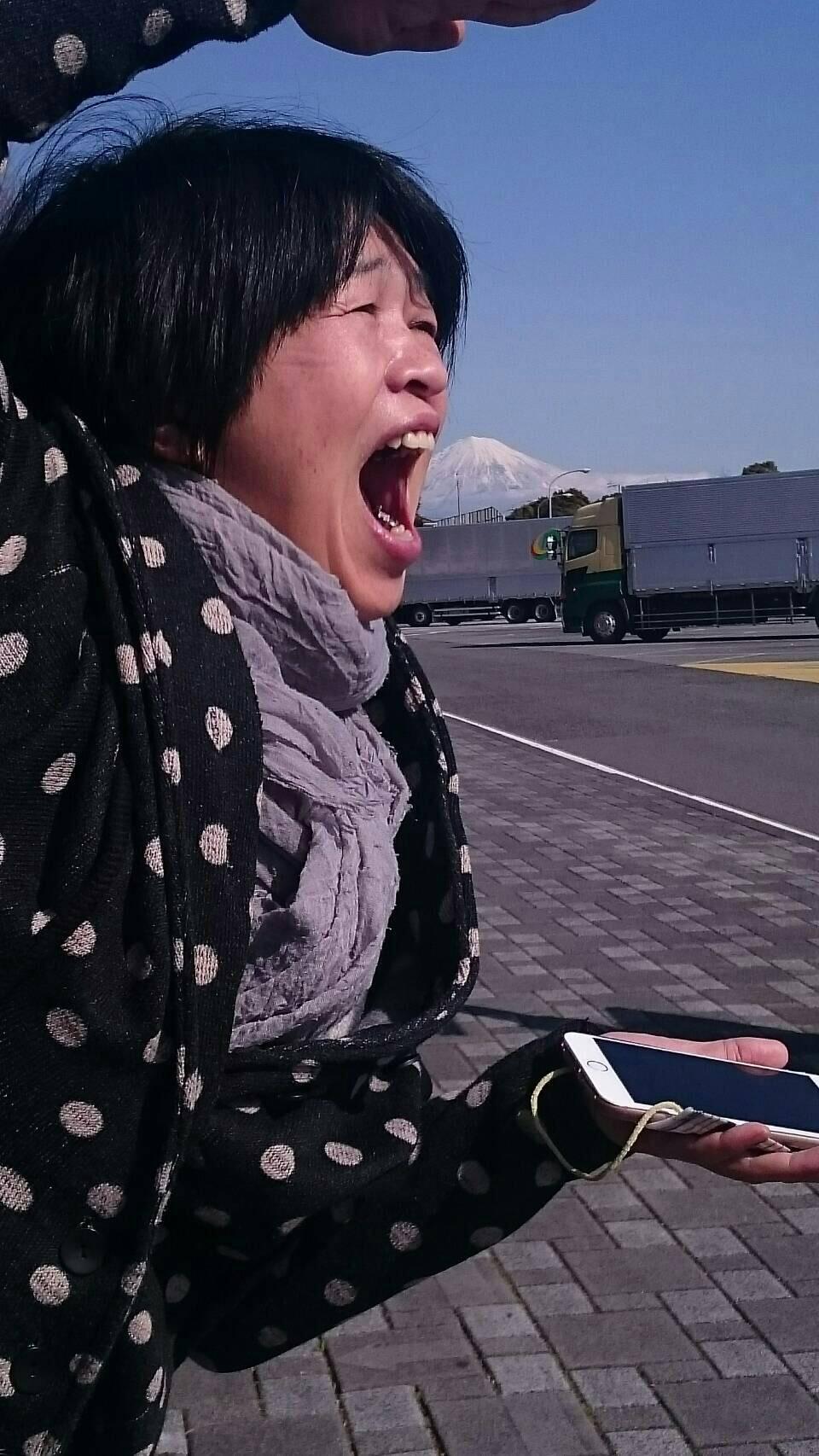 あまりの晴天が嬉しすぎて・・・思わず富士山いただきますう~~☆