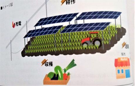 ソーラーシェアリング事業を進める会社の説明資料から
