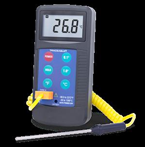 Termómetro digital para altas temperaturas con sonda tipo K y certificado trazable a NIST 4425