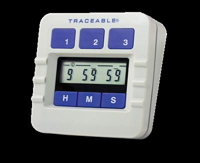 Timer contador de tres canales con certificado trazable a NIST 5002