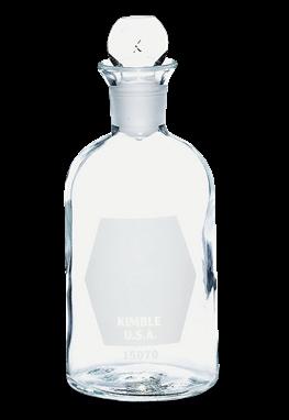 Botella B.O.D. de 300 ml en vidrio con tapón