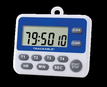 Timer contador de cuatro canales con certificado trazable a NIST 5001