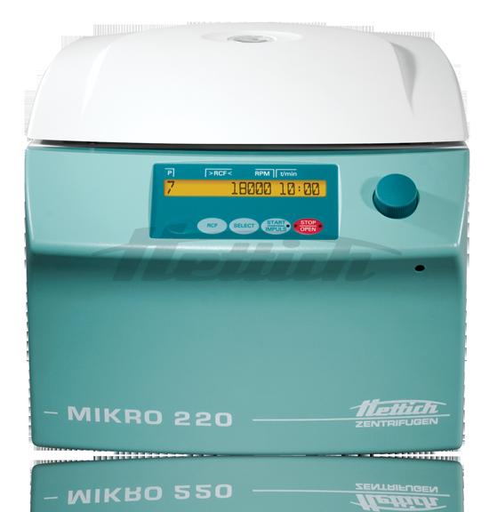 Centrifuga MIKRO 220 220R de la linea / marca HETTICH en México.