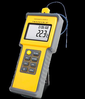 Termómetro digital para altas temperaturas con sonda tipo K y certificado trazable a NIST 4015