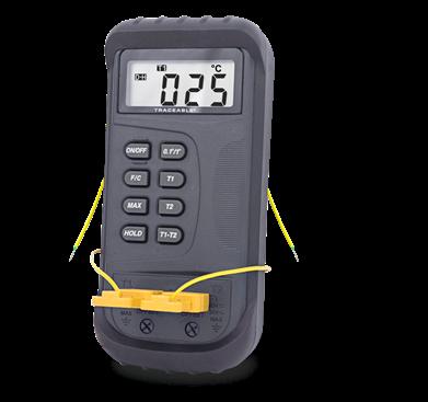 Termómetro digital para altas temperaturas con sonda tipo K y certificado trazable a NIST 4135