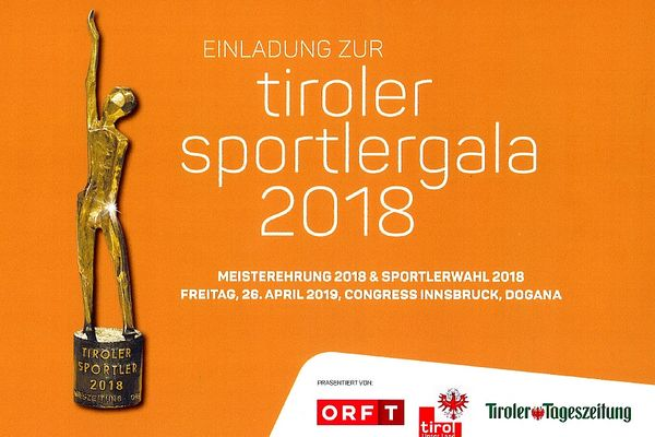Einladung Tiroler Sportlergala 2018