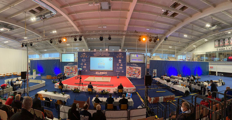 Wettkampfhalle Junioren & U23 Europameisterschaft in Rovaniemi (Finnland)