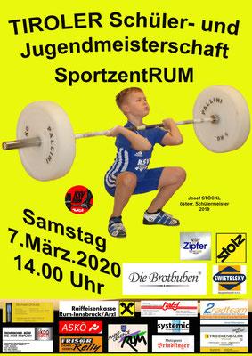 Plakat Tiroler Schüler-u. Jugendmeisterschaft 2020