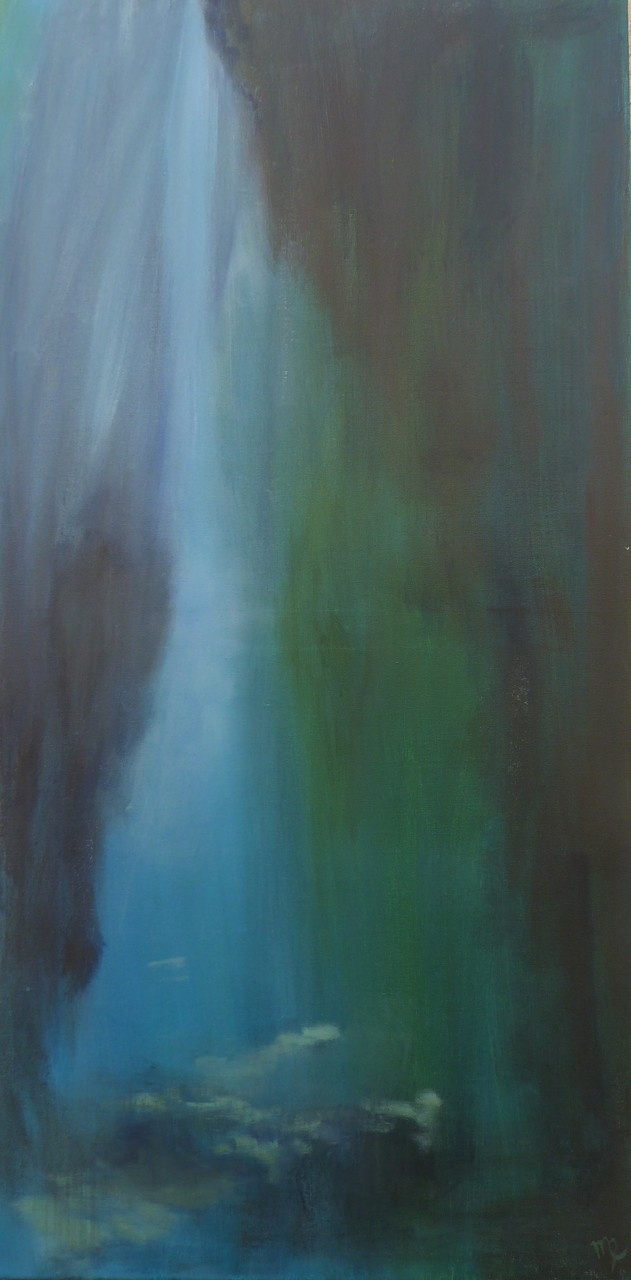 Abysses, 100x50 Huile
