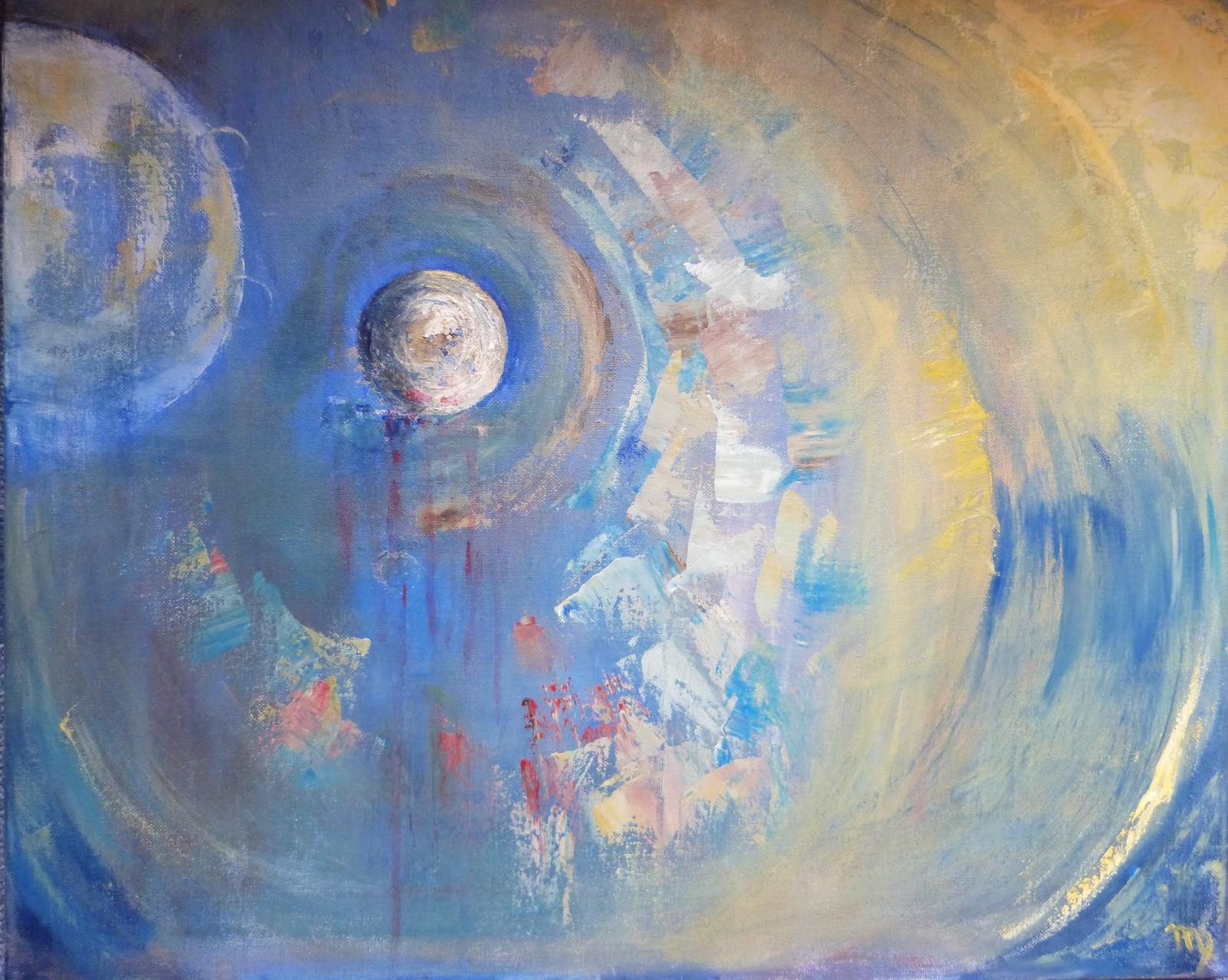 Planetes, 60x50 Huile
