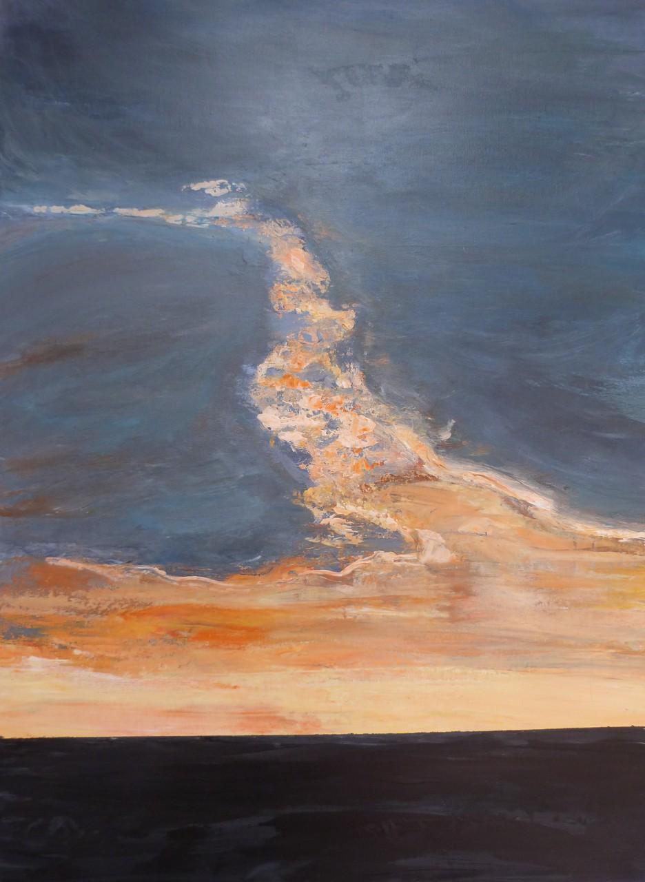 Entre ciel et...,80x60 Acrylique
