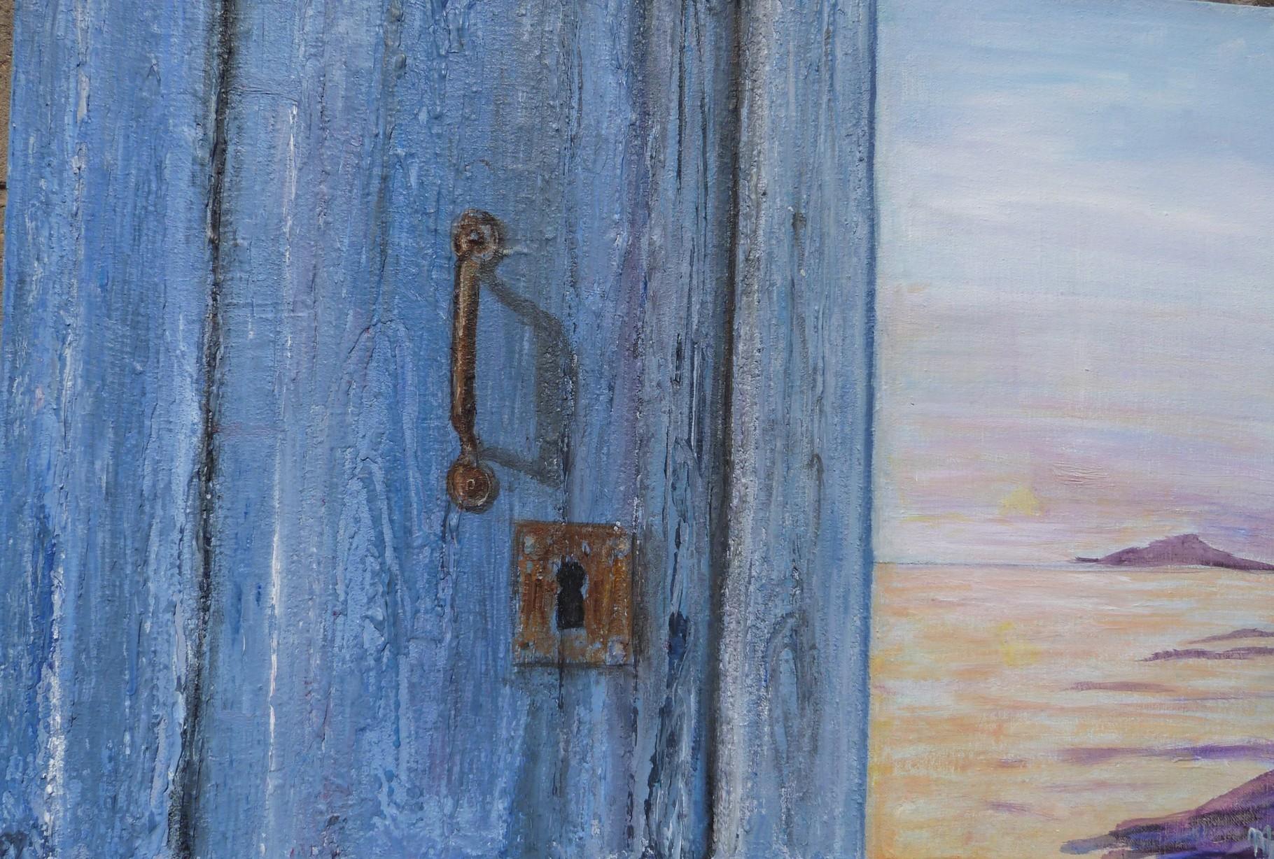 La porte bleu,