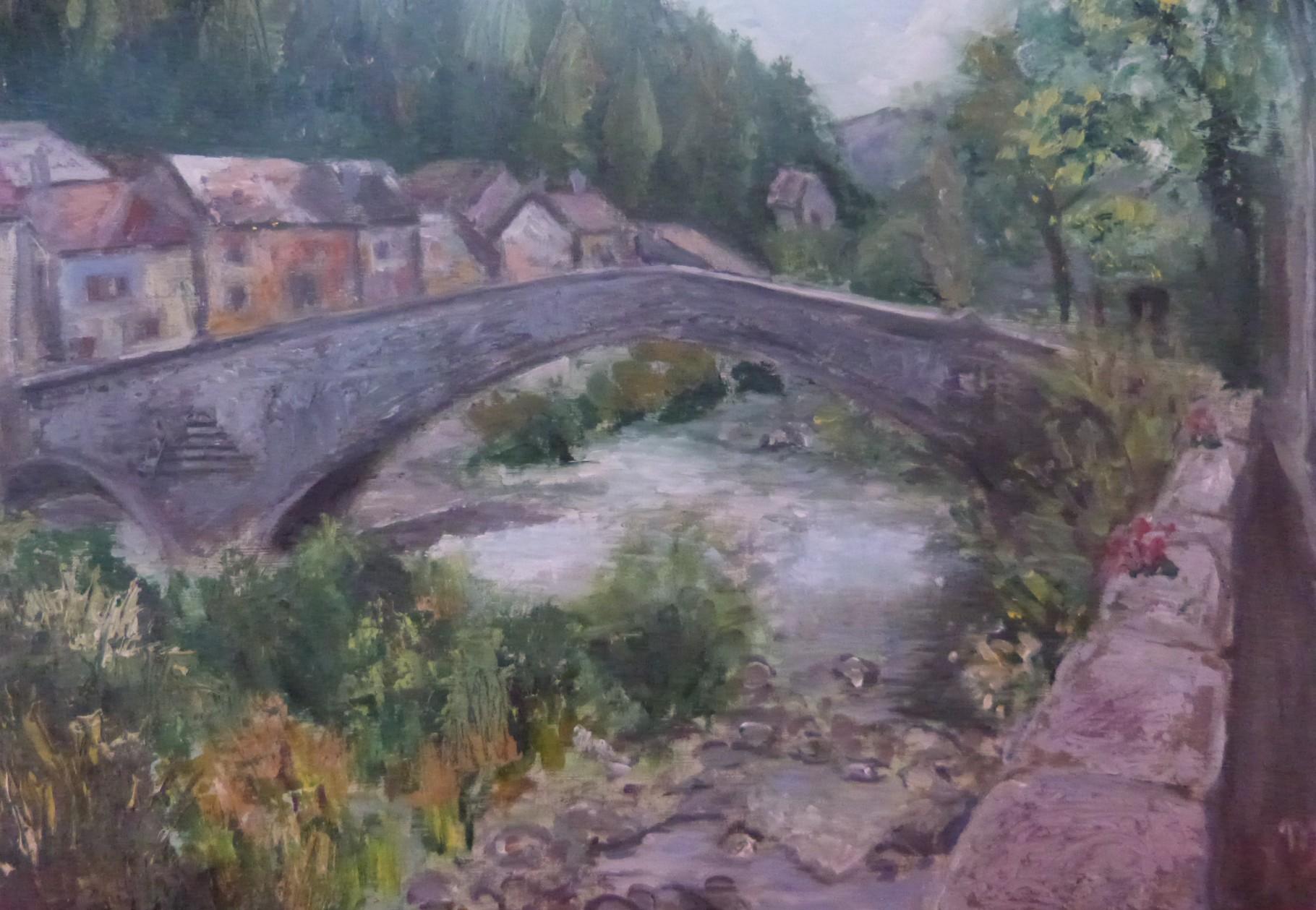 Pont de Montvert, 34x24 Huile
