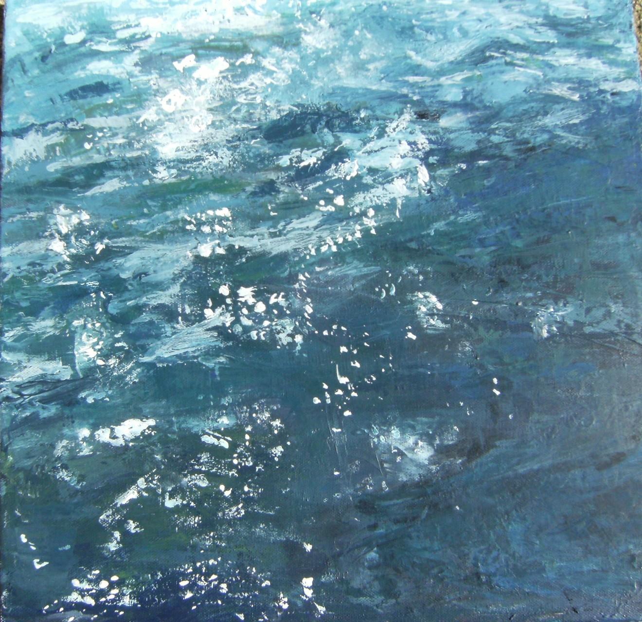 Deep blue, 40x40 Acrylique