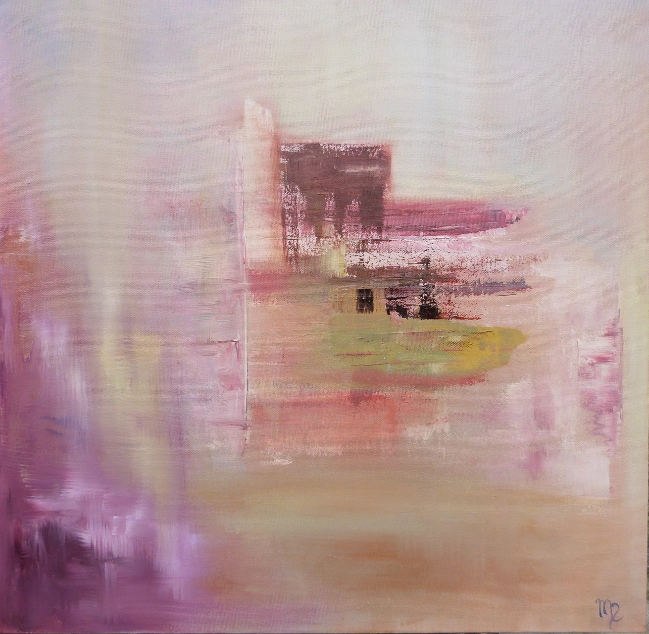 Pink, 50x50 Huile