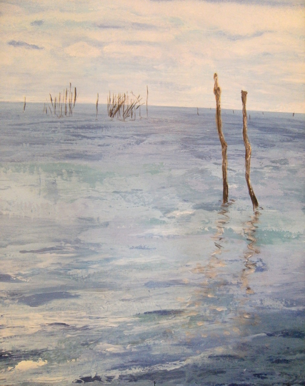 Bassin d'Arcachon,65x55 Acrylique