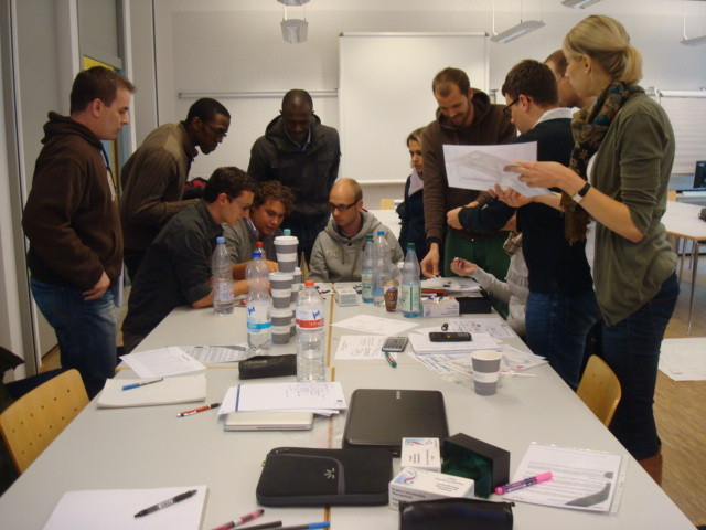 Intense Team Work at Frankfurt Campus during our Reality Simulation October 2010