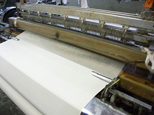 帆布 シャトル織機